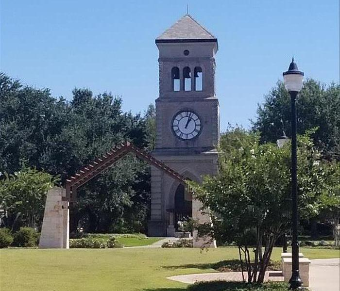 clock tower in the Pittsburg, TX park!
